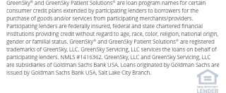 Financing for GreenSky© credit programs is provided by federally insured, federal and state chartered financial institutions without regard to race, color, religion, national origin, sex or familial status. NMLS #1416362;