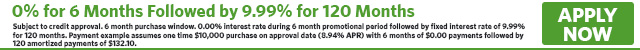 1069 - Mixed Rate 0% for 6 Months Followed by 9.99% for 120 Months