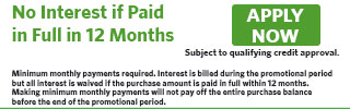 2613 - No Interest if Paid in Full in 12 Months