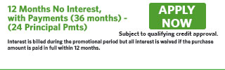 4123 - 12 Months No Interest, with Payments (36 months) - (24 Principal Pmts)